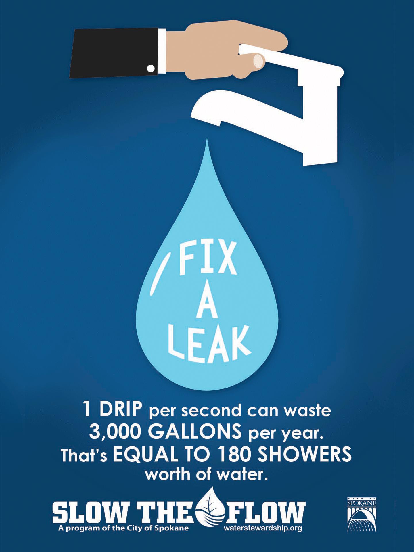 fix a leak to save water  u0026 money