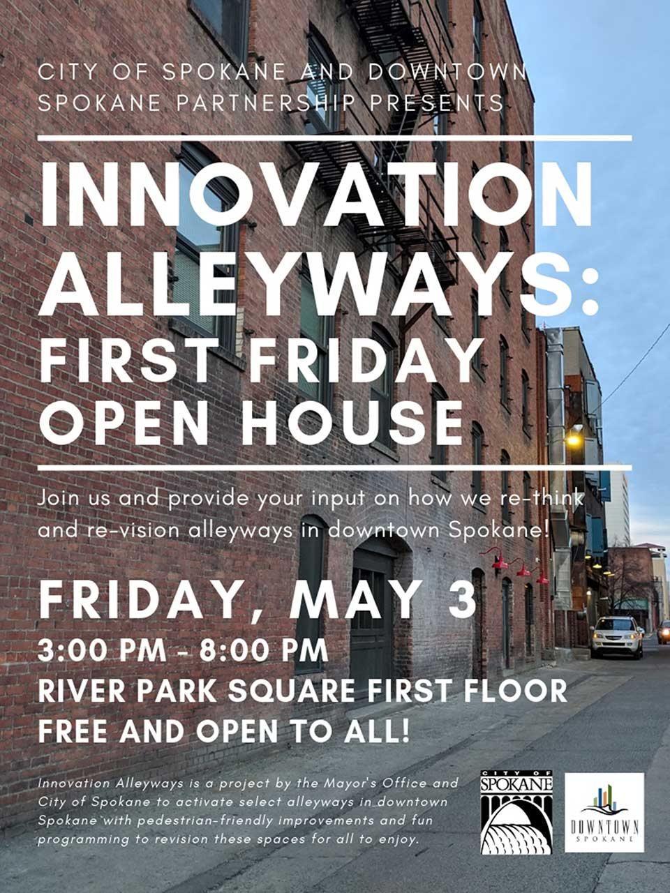 Innovation Alleyways First Friday Flyer