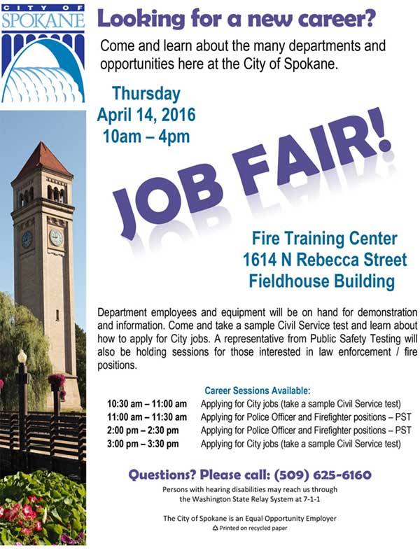 Job fair flyer - english