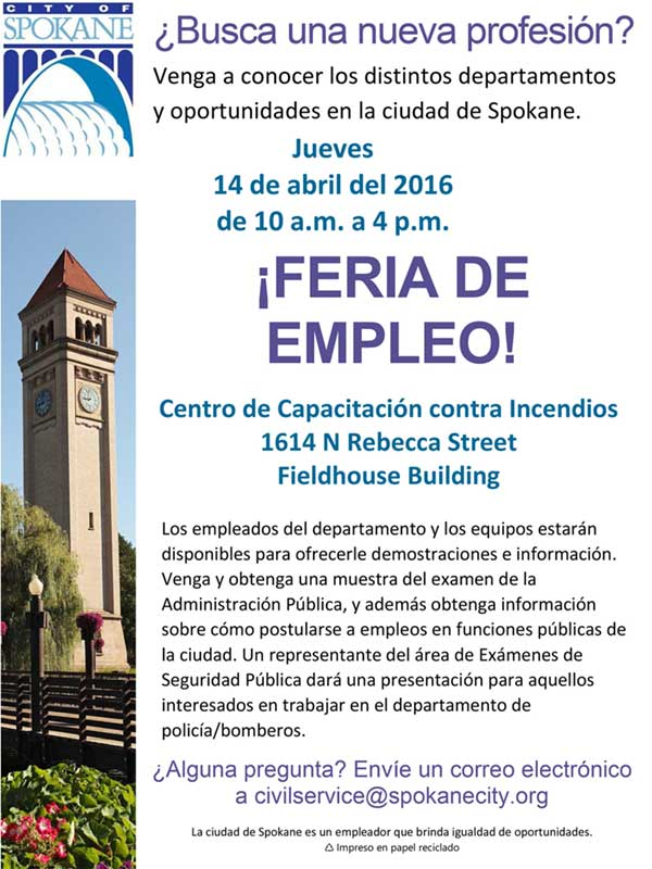 Job fair flyer - spanish