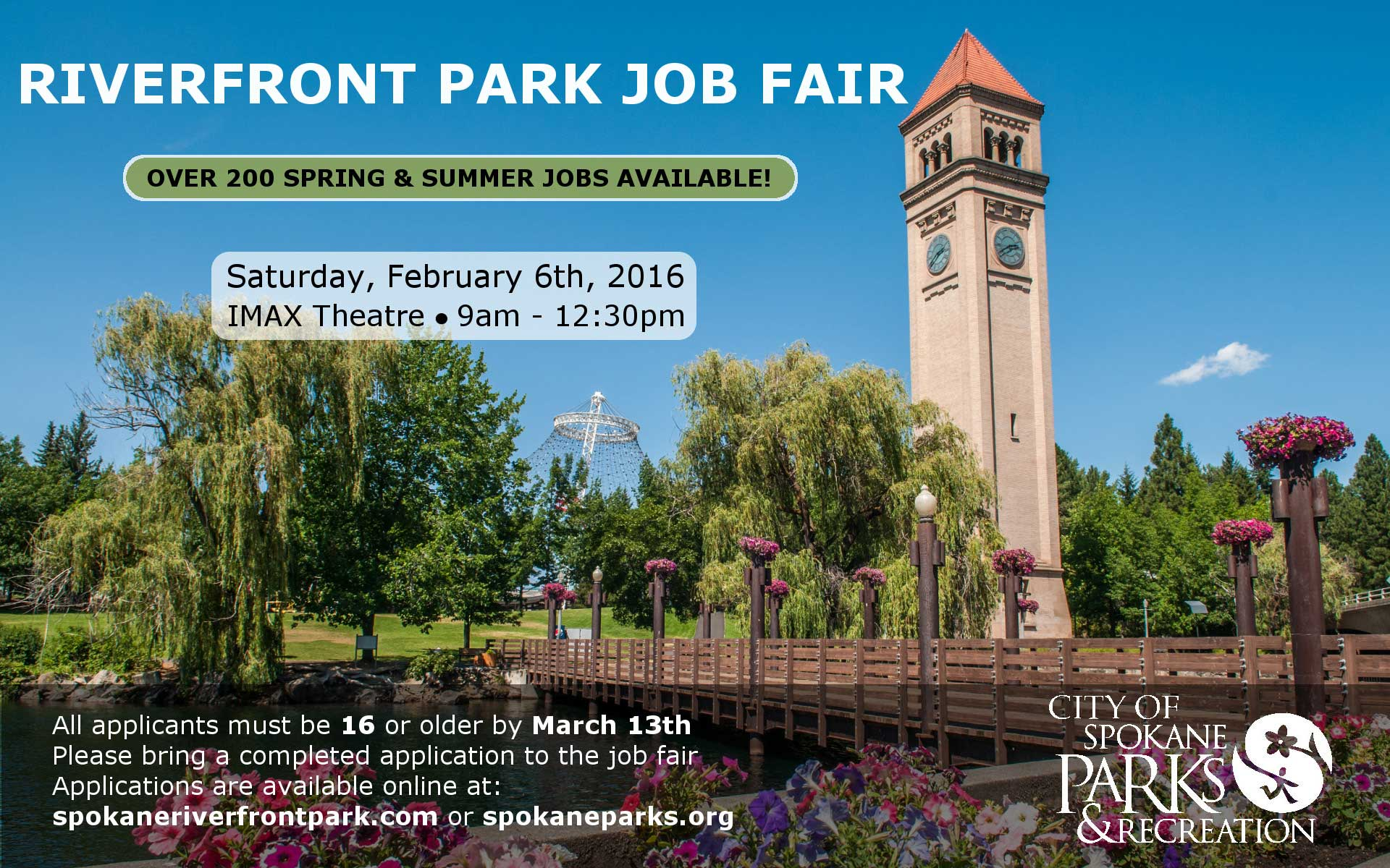 Riverfront Park To Host Job Fair City Of Spokane Washington