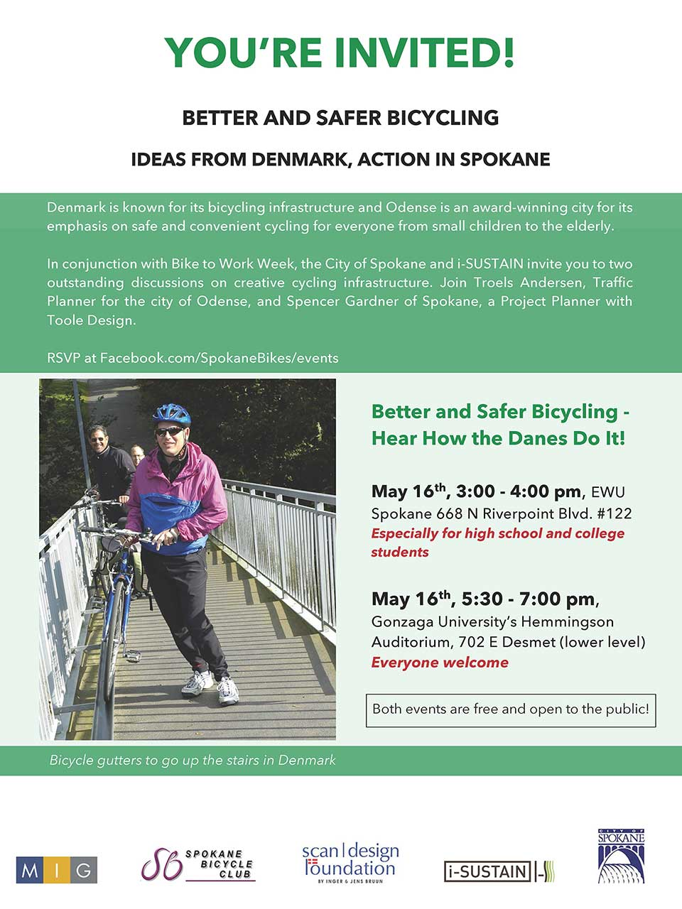 Spokane in Motion Educational Events Flyer
