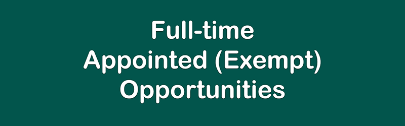 Full-time Exempt Opportunities