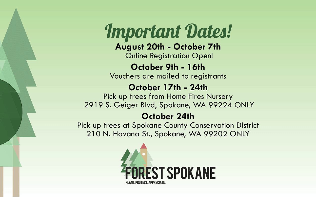 Free Tree Event Important Dates