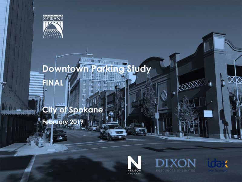 2019 Downtown Spokane Parking Study Plan