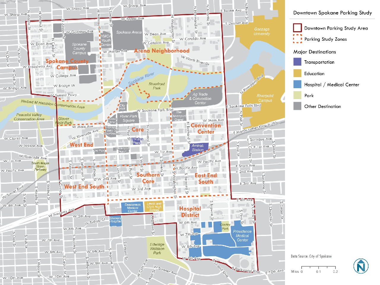Downtown Parking Study Map