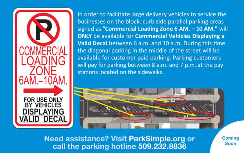 Main Ave Loading Zone flyer