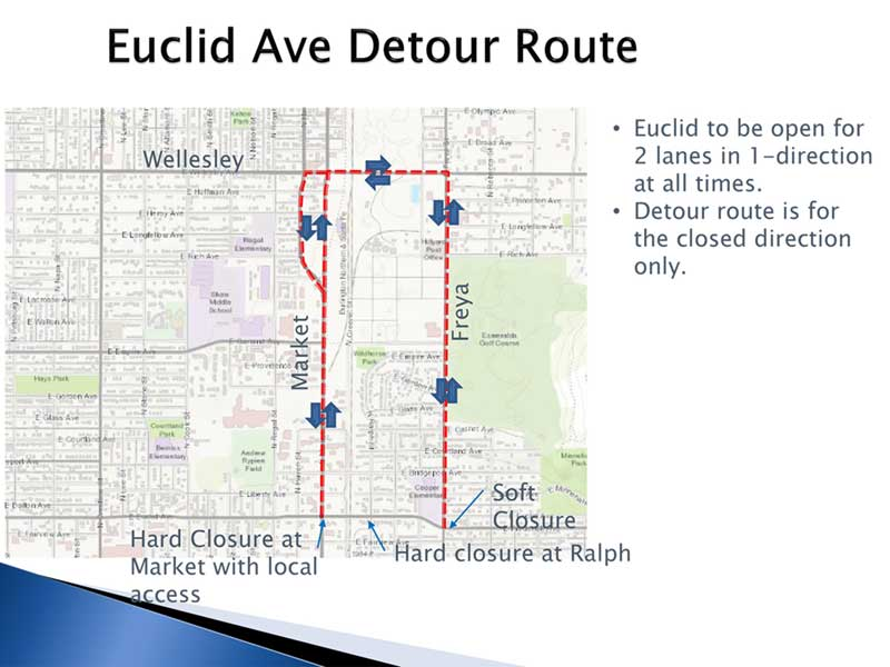 Euclid Avenue Water and Sewer Detour