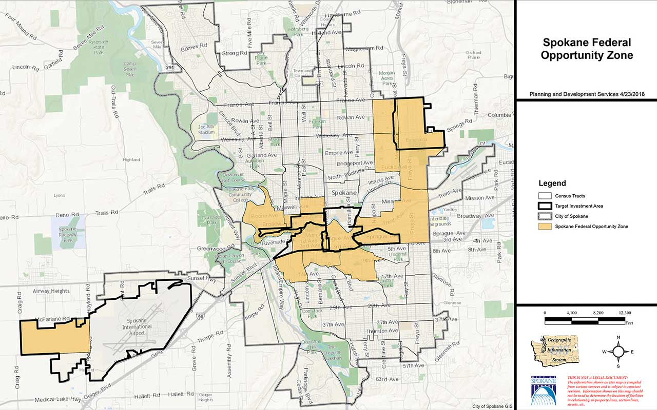 Qualified Opportunity Zones Map