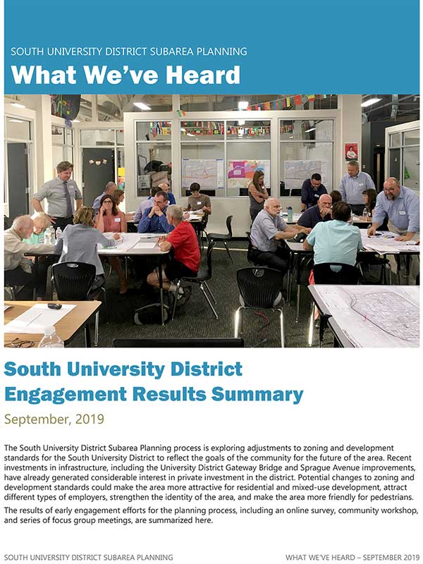 South University District Community Engagement Summary