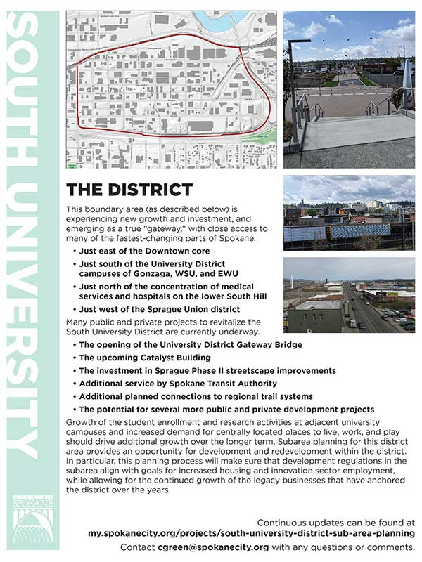 South University District Info Sheet