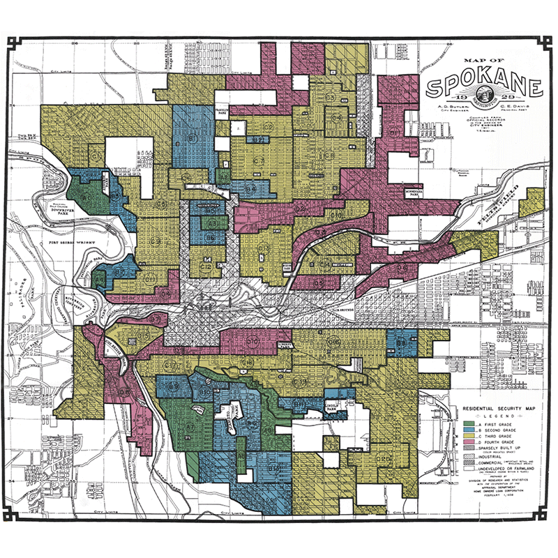 1929 Red Lining Map