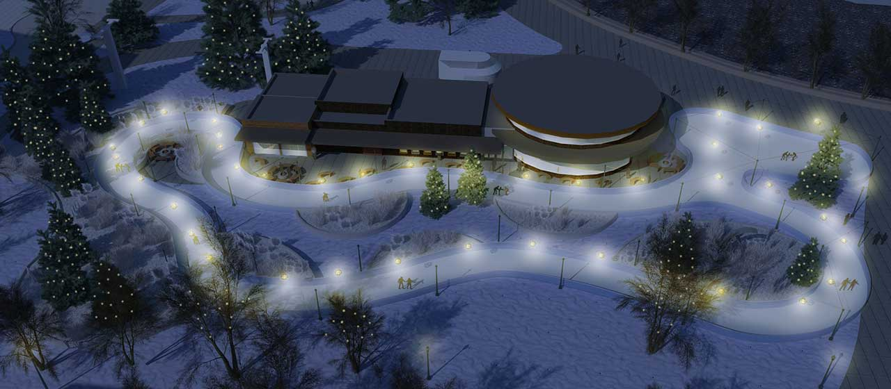 Rec Rink Night Rendering