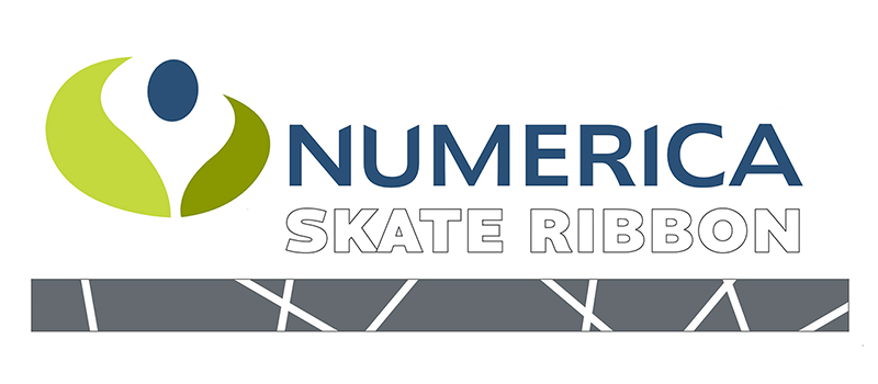 Numberica Skate Ribbon Sign