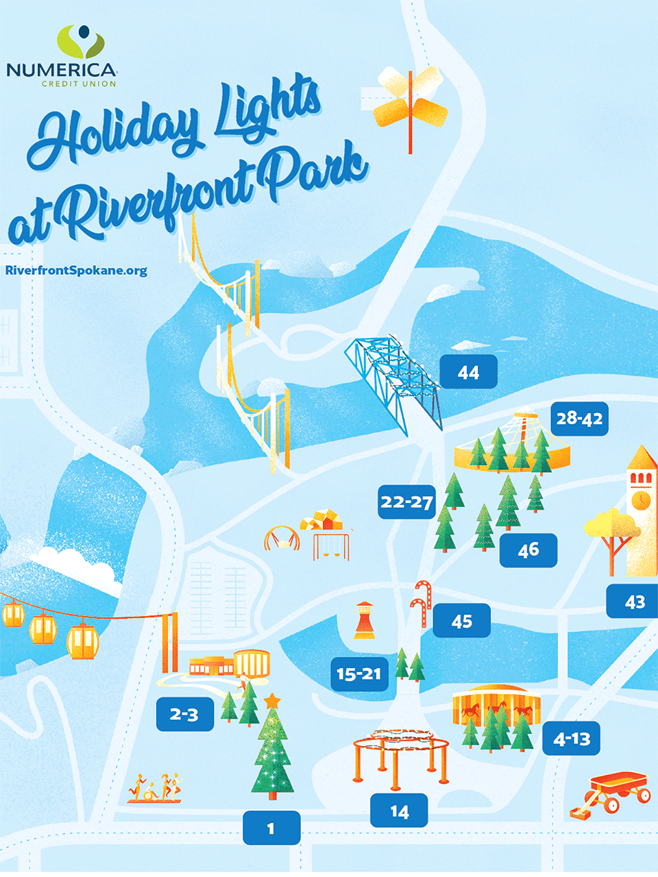 Holiday Tree Walk Map