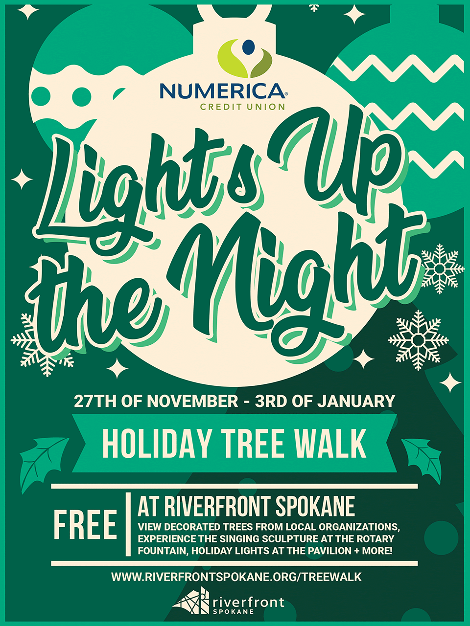 Holiday Tree Walk Flyer