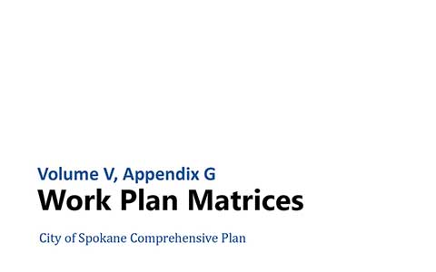 Comprehensive Plan  City Of Spokane Washington