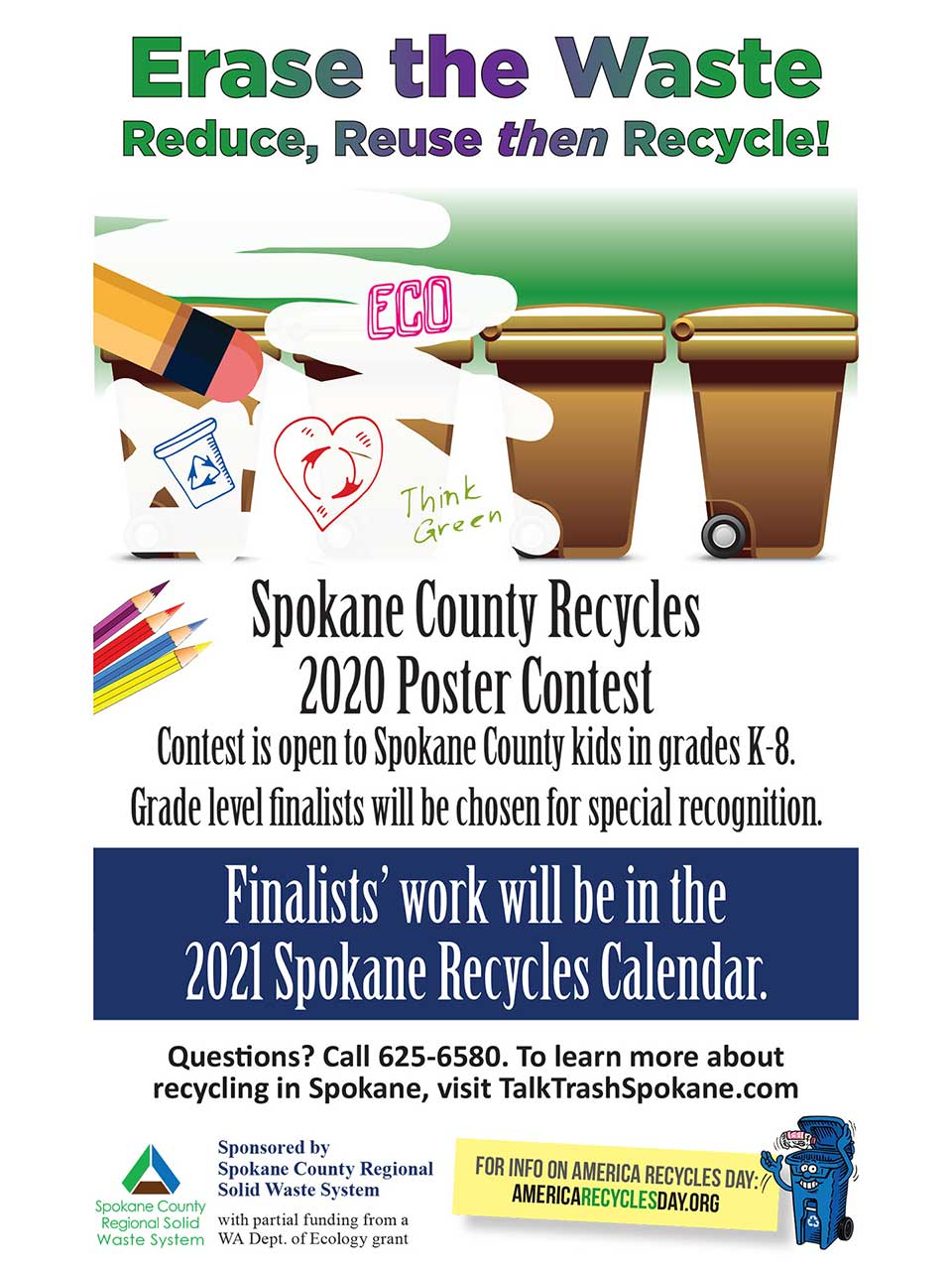 2020 Spokane Recycles Poster Contest