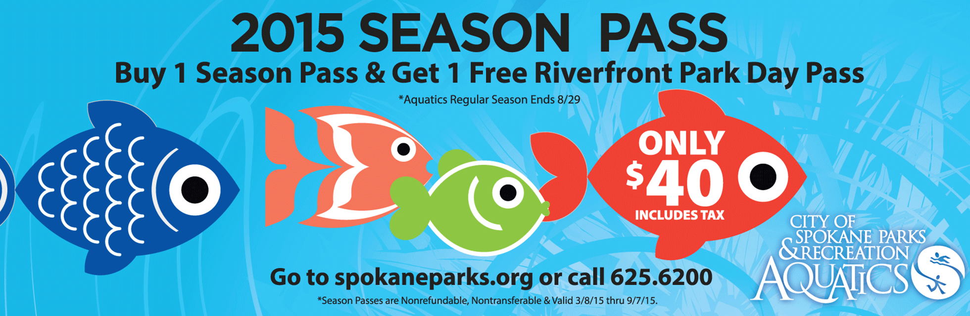 Aquatics Season pass and RFP Day pass deal