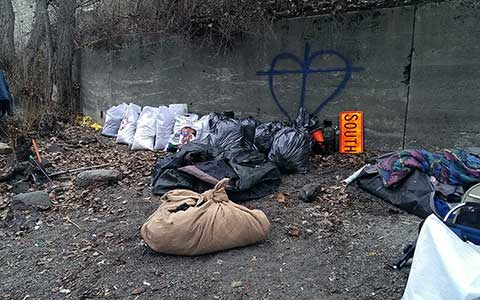 Discarded Materials by the river
