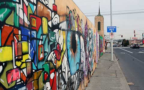 Mobile Murals Colorful piece