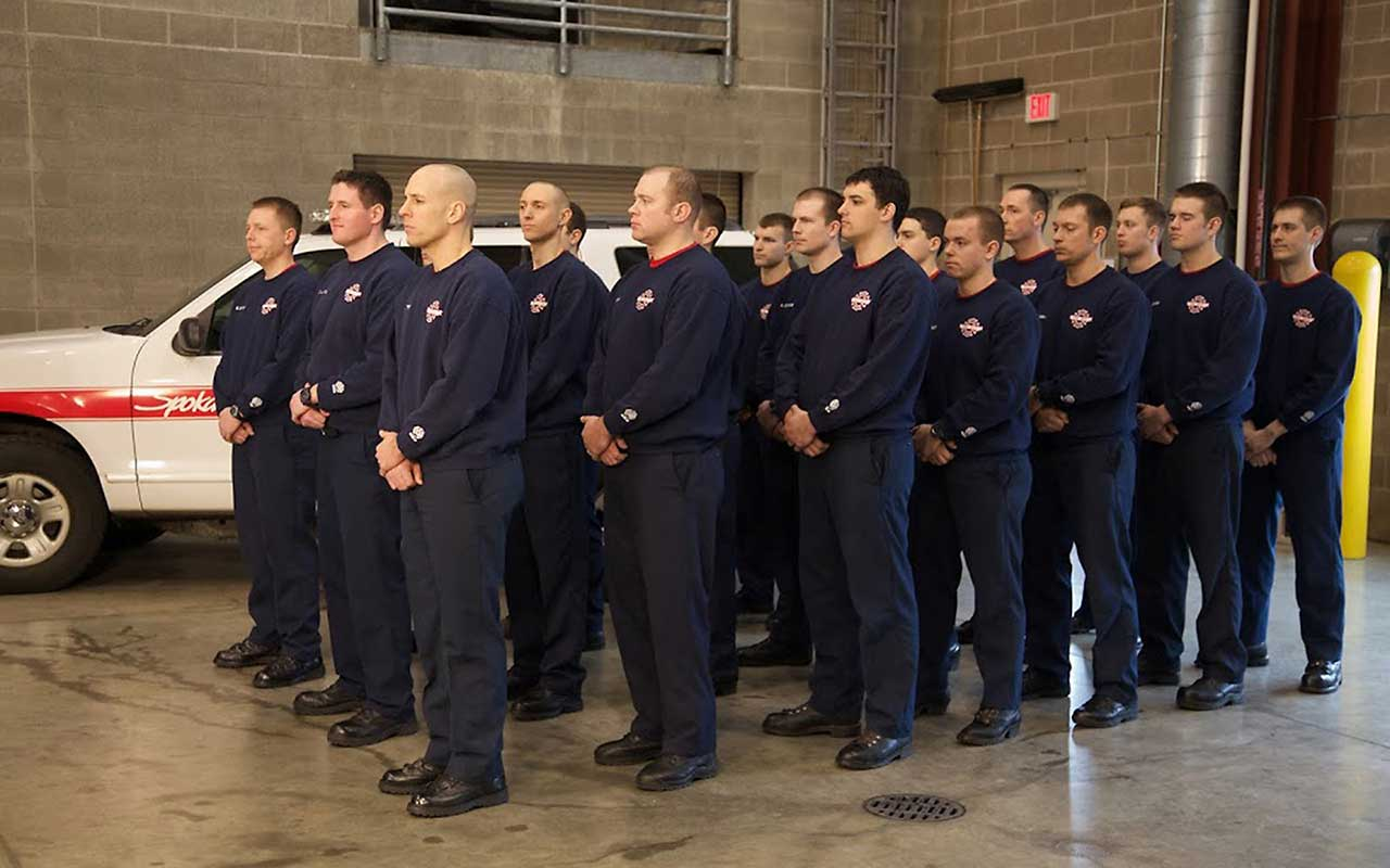 SFD Fire Fighters at News Conference 2015-01-15