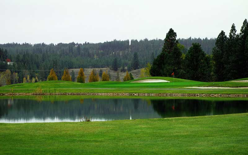 Qualchan Golf Course by the pond