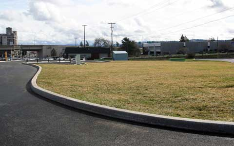 Grassy areas at East U-district CSO tank site