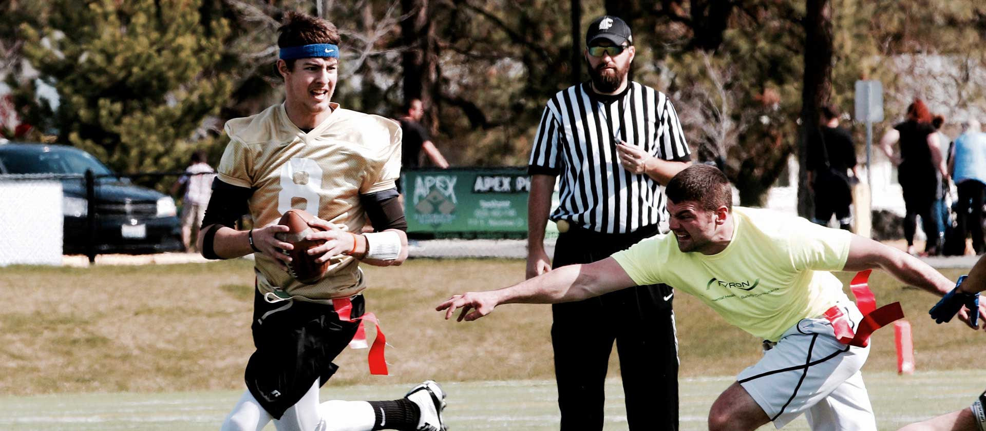 Flag Football Player Running