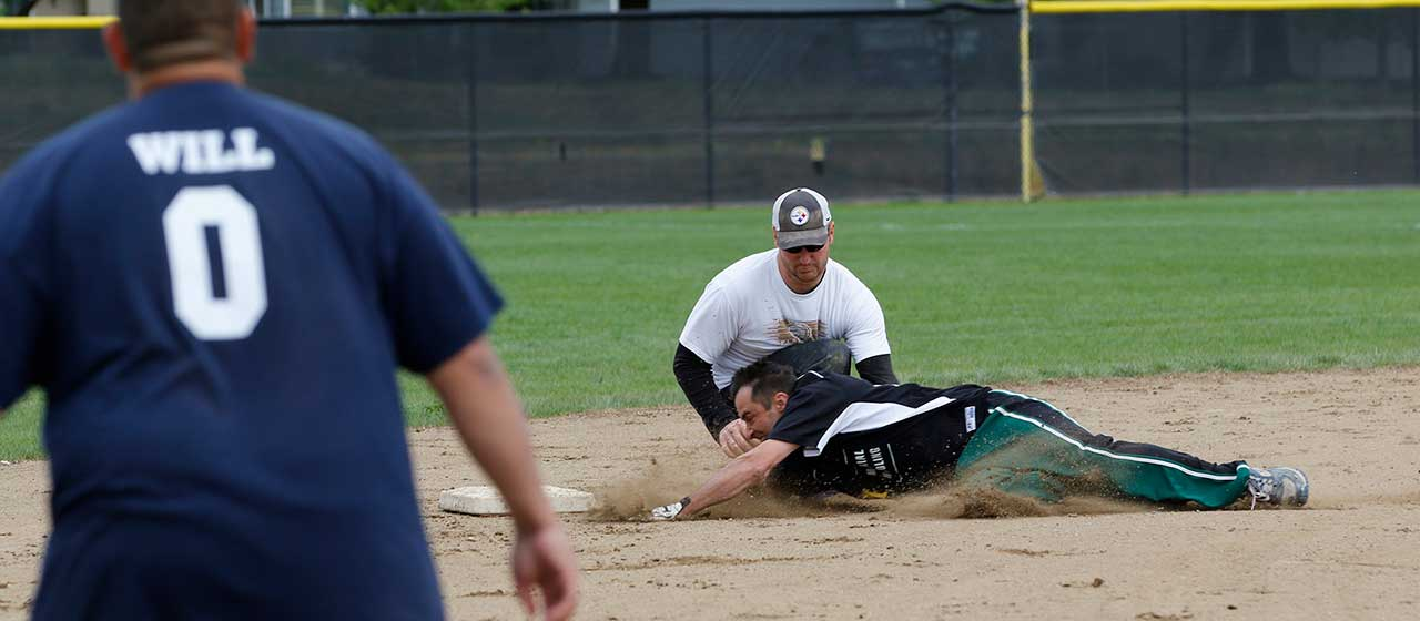 Softball Slide Catch