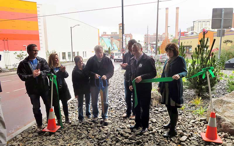 Lincoln Street Gateway Ribbon-cutting
