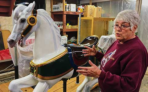 Carousel Horse Restoration Bette Largent
