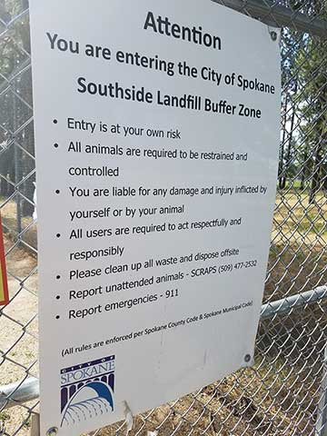 Southside Landfill Buffer Zone Sign