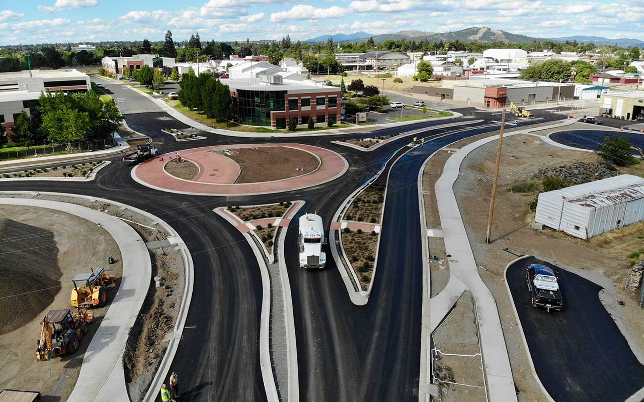 MLK Jr. Way Project Nearly Completed Roundabout