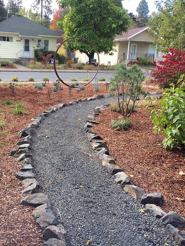 Basalt Rock Lined Path