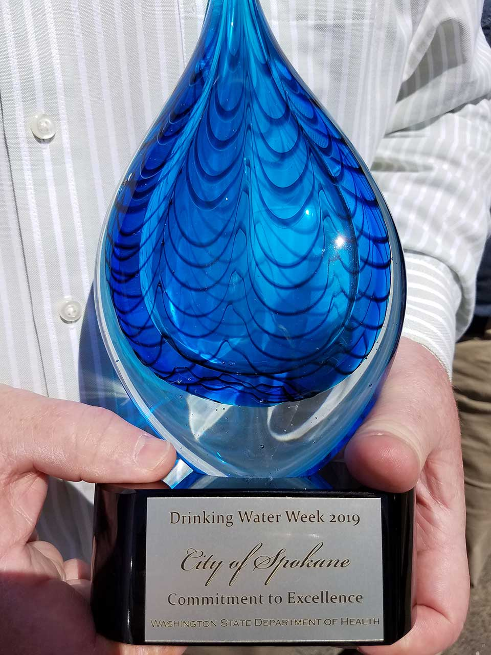 drinking water trophy